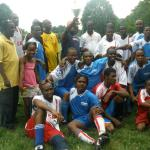 Hartford Lone Star join fellow liberian soccer stars to celebrate July 26, 2008 in Ansonia